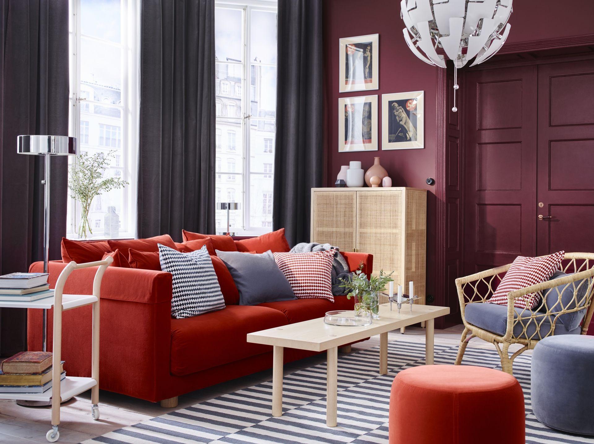 Rode Kussens Ikea : Stockholm 2017 kussen blauw wit salon living room decor ikea