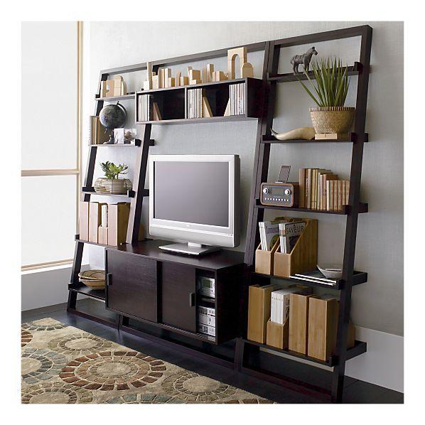 Media Stand Ladder Style Modern Media Storage Home Decor Home