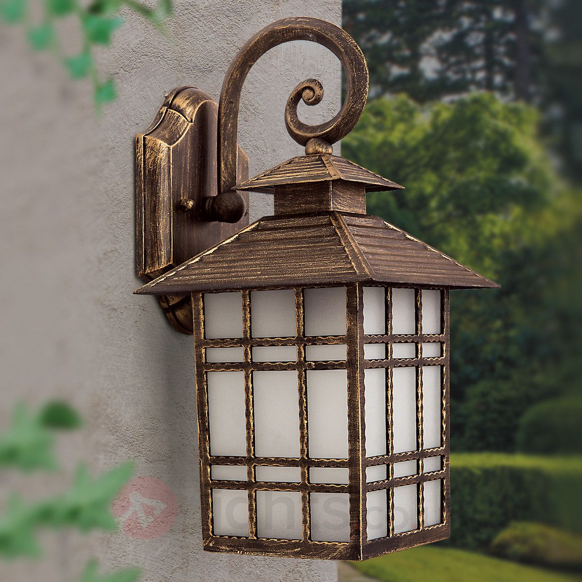 Ilka Outside Wall Light Traditional Lantern Shape