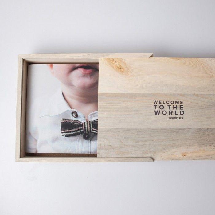 Customizable Wooden Photo Box Com Imagens Entrega De Fotos