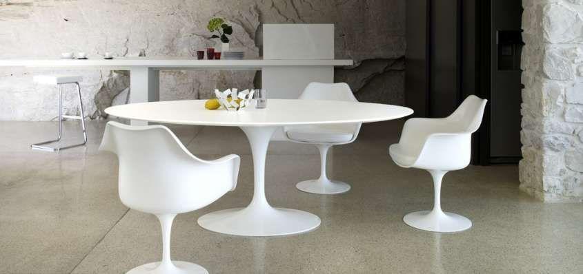 Tavolo Bianco Design.Tavoli Ovali Tavolo In 2019 Tulip Table Saarinen Table