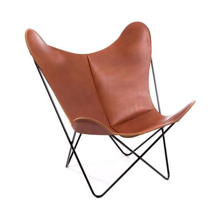 Hardoy Butterfly Chair With Nature Leather