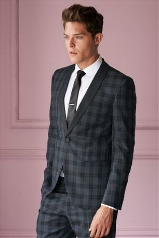 Brown Check Slim Fit Suit by Next | Men's Fashion | Pinterest ...
