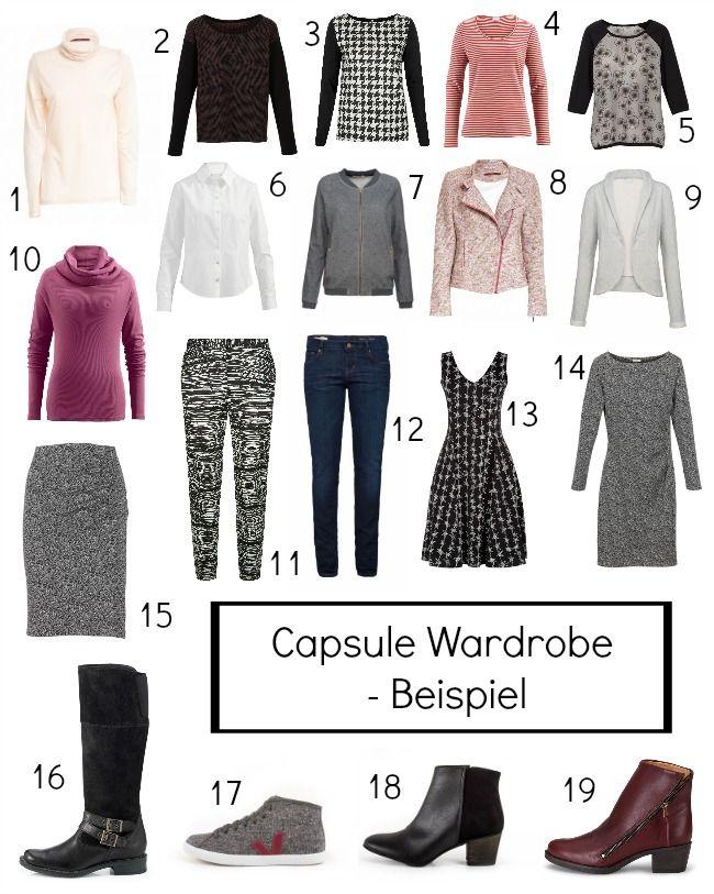 Wie funktioniert eine capsule wardrobe ein beispiel mit for Minimalistischer kleiderschrank