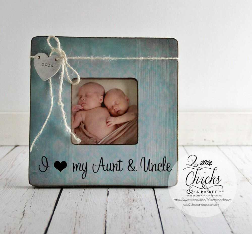 I love my aunt uncle personalized picture frame new aunt new i love my aunt uncle personalized picture frame new aunt new uncle gift new baby announcement negle Choice Image