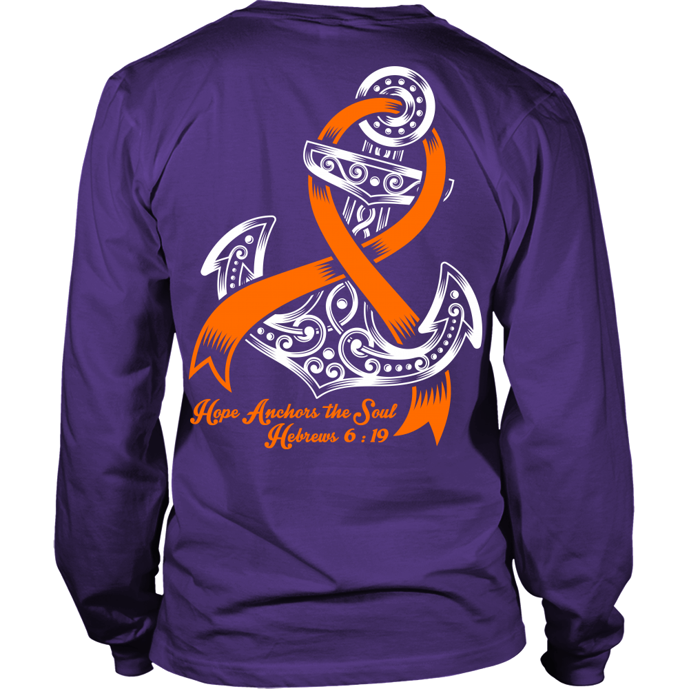 """Limited edition """"Hope Anchors The Soul"""" T-Shirts, Long Sleeves & Hoodies Available in many colors! Join Us In Our Mission To Raise Funds For The Leukemia & Lymphoma Society! 100% from the proceeds of"""