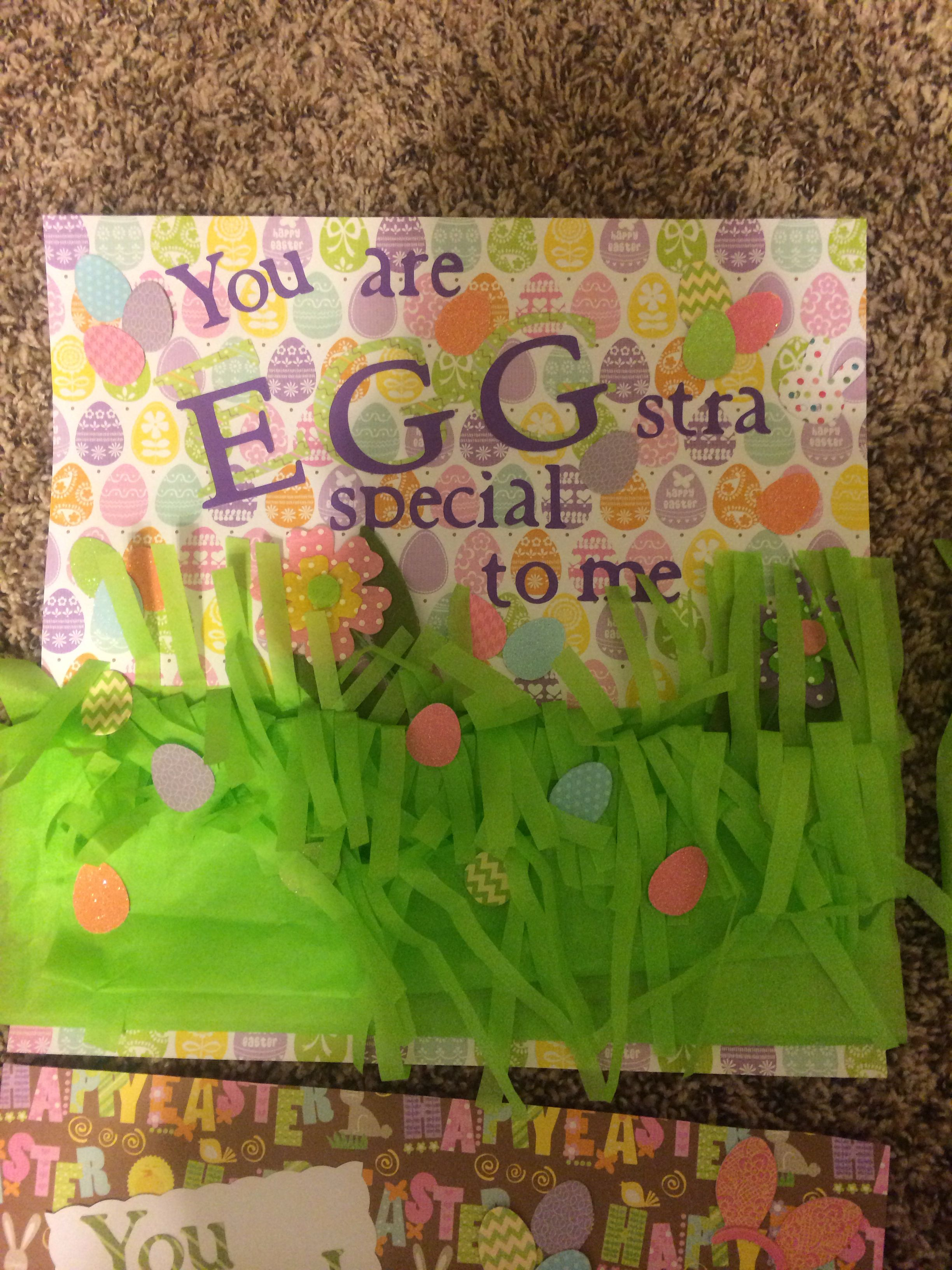 Easter care package for my deployed boyfriend box side 1 of 4 says easter baskets negle Image collections