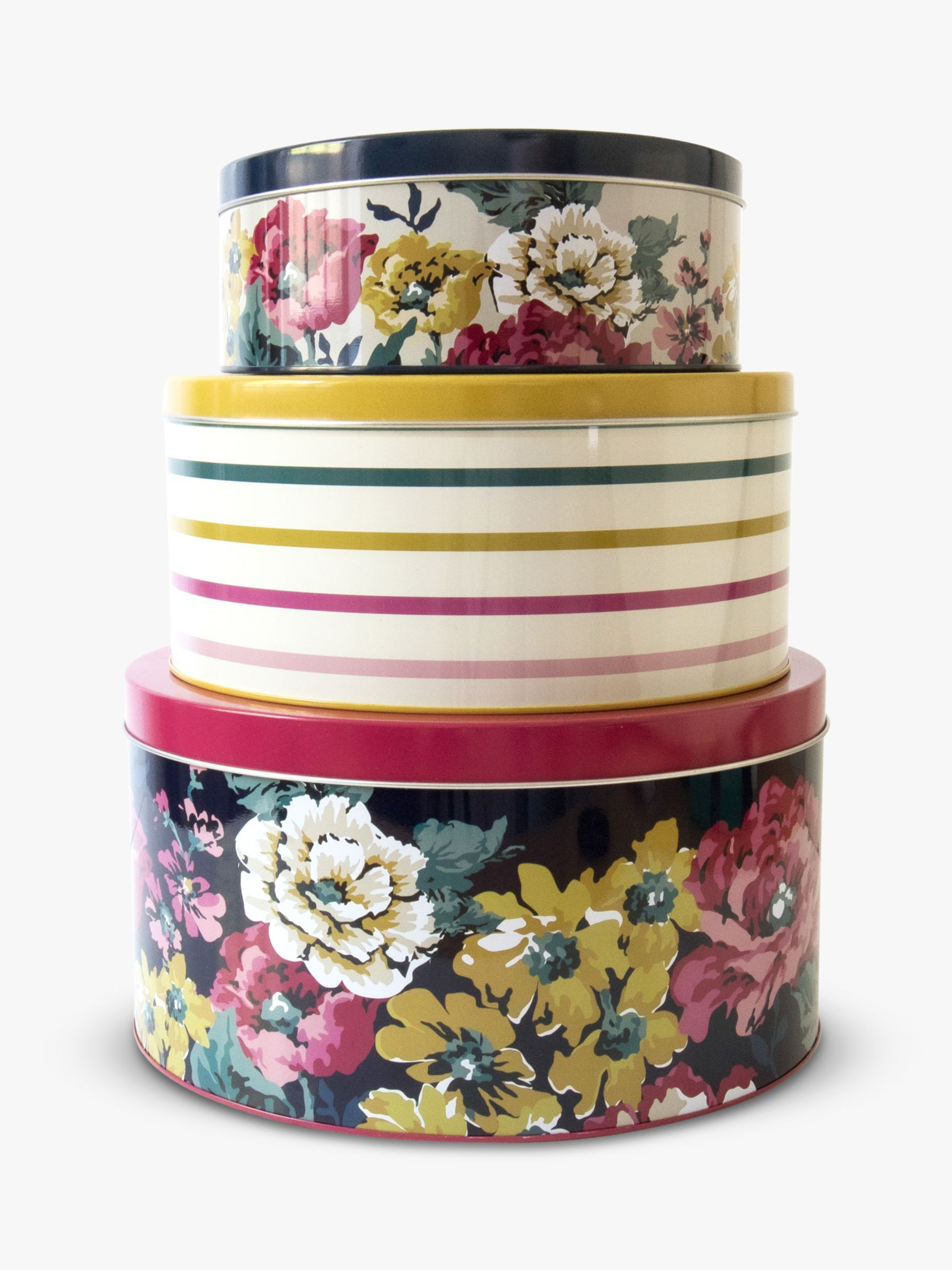 Joules Cambridge Floral Nested Cake Tins In 2020 Cake Tins