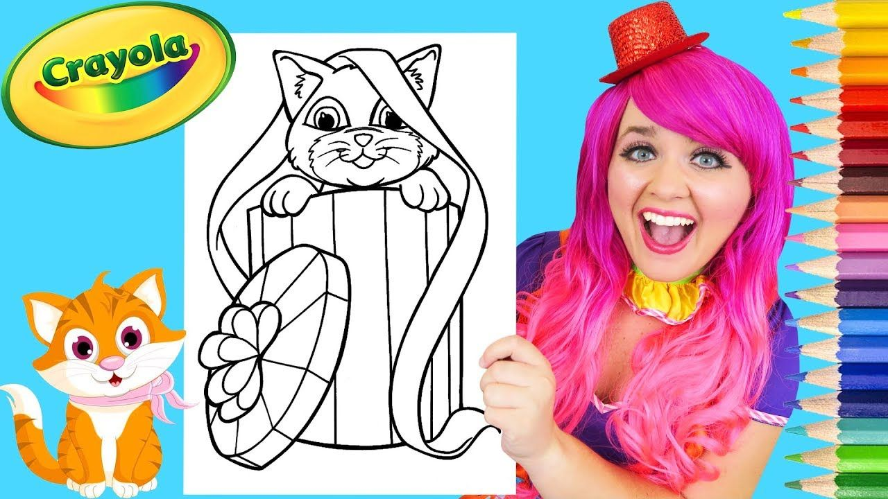 Coloring Kitty Cat Surprise Crayola Coloring Page Prismacolor