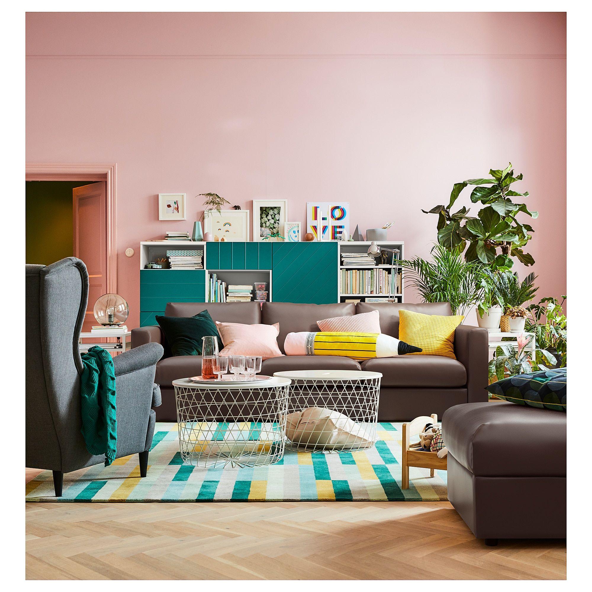 Living Room Furniture Ikea: VIMLE Sofabed - Farsta Dark Brown In 2019