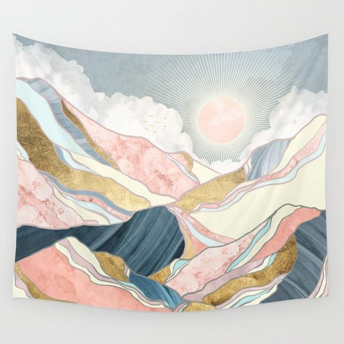 Spring Morning Wall Tapestry The Wallart Tapestries Are Made Of Lightweight Materials The Latest Printing Technol In 2020 Room Tapestry Tapestry Wall Tapestry Bedroom