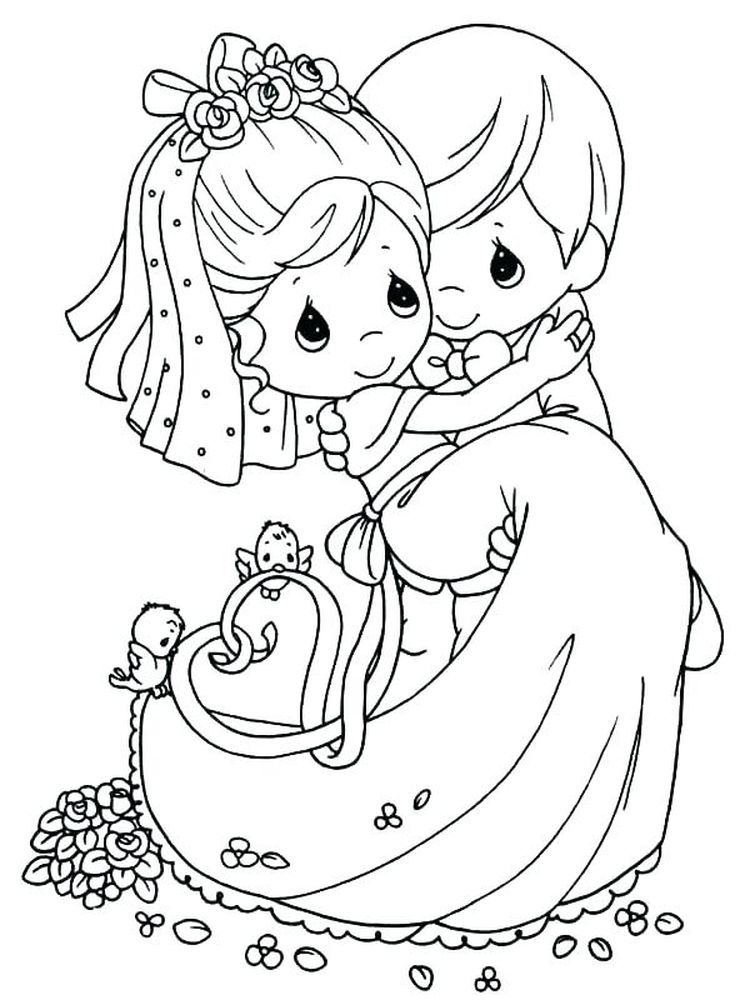 Bride And Groom Coloring Book Pages To Print | Halaman ...