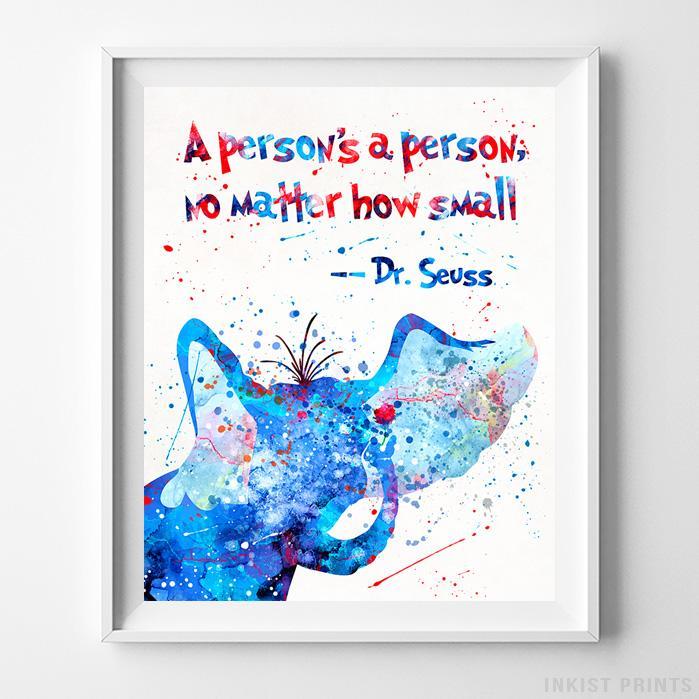 Dr Seuss Print Poster Watercolour