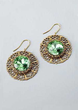 LENORA DAME Crystal Drop Earrings