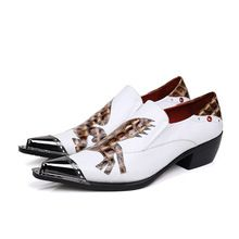 57809d1f4b Christia Bella Fashion Italian Men Dress Shoes Genuine Leather Men ...