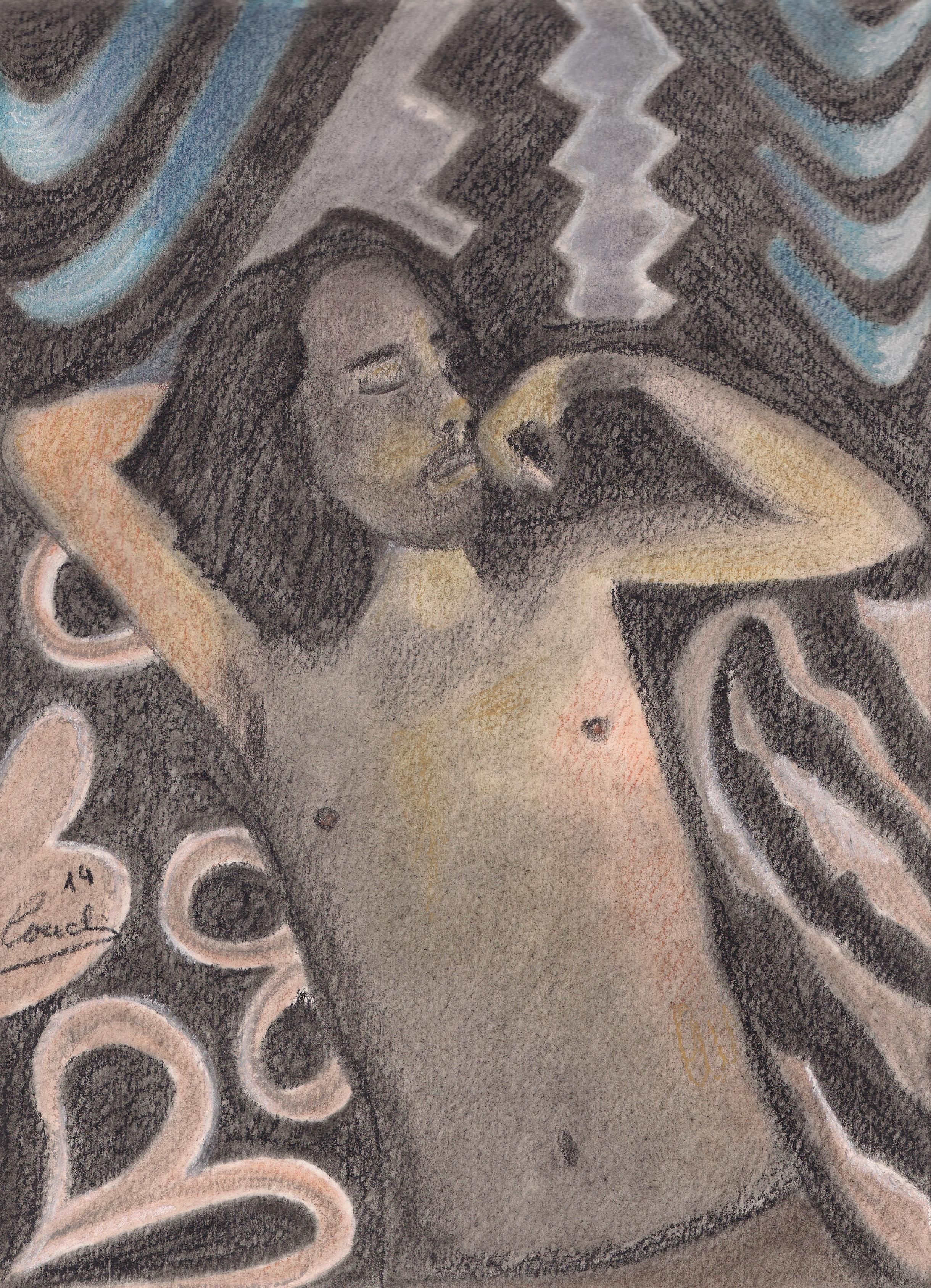 La Siesta. Pintura pastel. Artista: Concha Senderuela