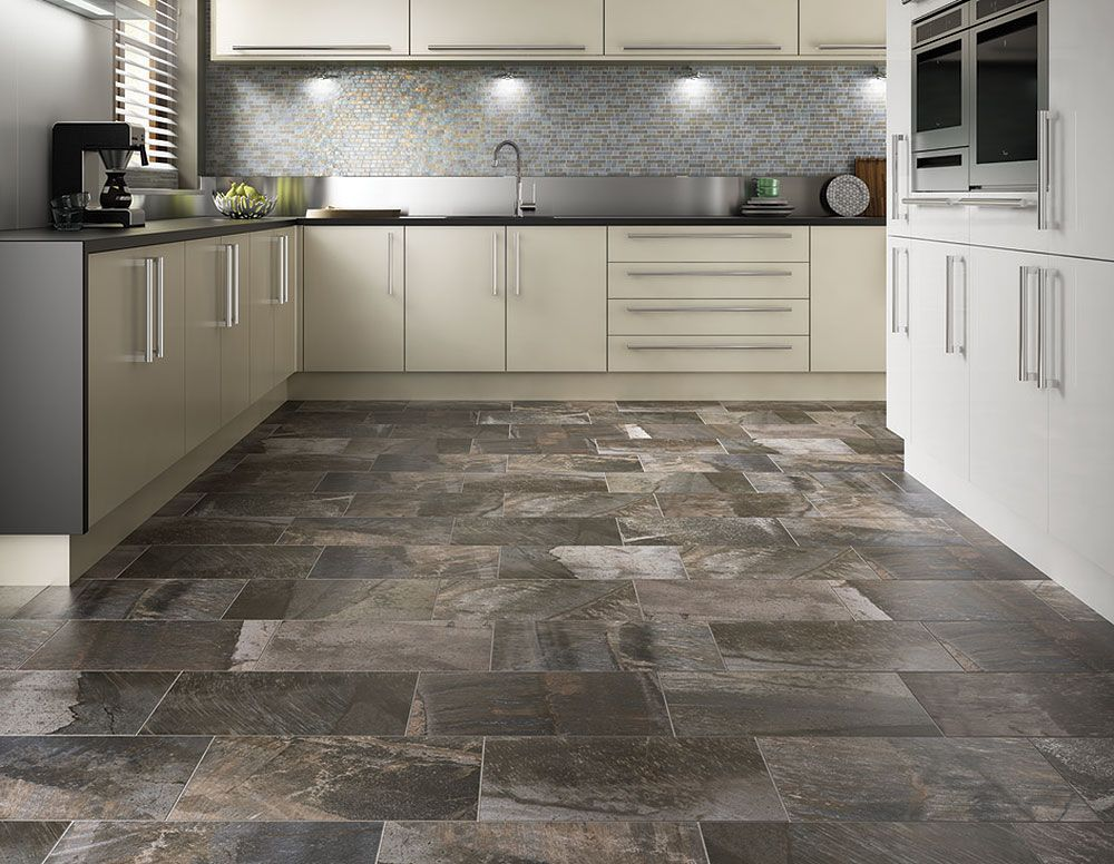 "Porada 13"" X 13"" - Rich Brown Floor Tile"