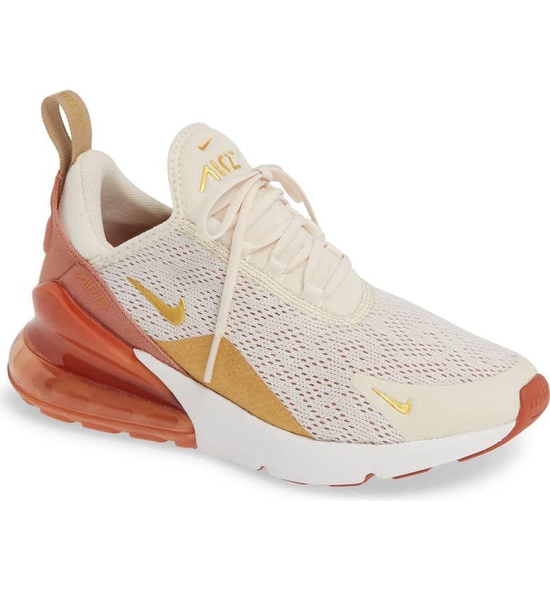 Air Max 270 Premium Sneaker Main Color Light Cream Gold Terra Blush Womens Sneakers Trending Womens Shoes Nike Air Max