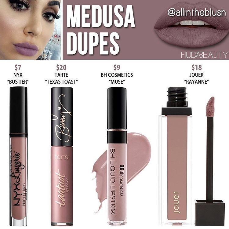 """Mi piace"": 4,111, commenti: 48 - All in the Blush (@allintheblush) su Instagram: ""HUDA BEAUTY DUPES  STARTING NOW!  The first dupe up on the list is #Medusa, a dusty mauve hue.…"""