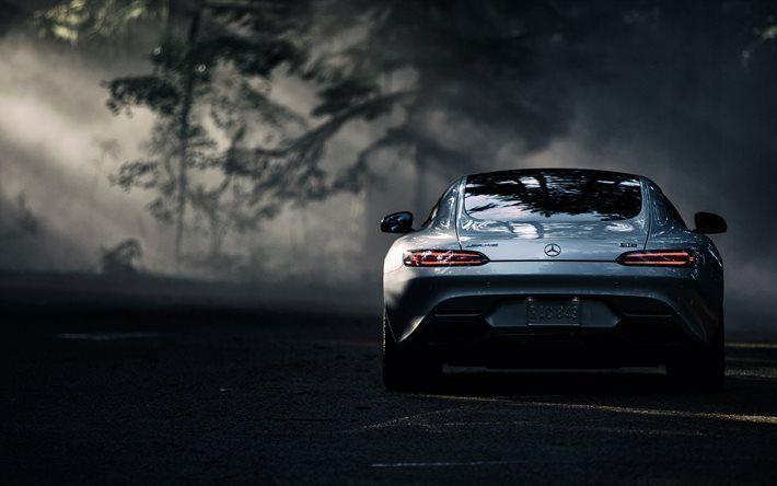Lataa kuva forest road, Mercedes-AMG GT, 2017 autot, 4k, sportcars, Mercedes