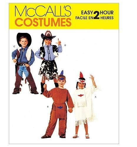 McCall's Patterns M2851 Children's, Boys' and Girls' Cowboys and Indians Costume   Includes pattern pieces and sewing instructions   Made by McCall's Patterns   Copyright 2011   Printed in the USA   $12.00