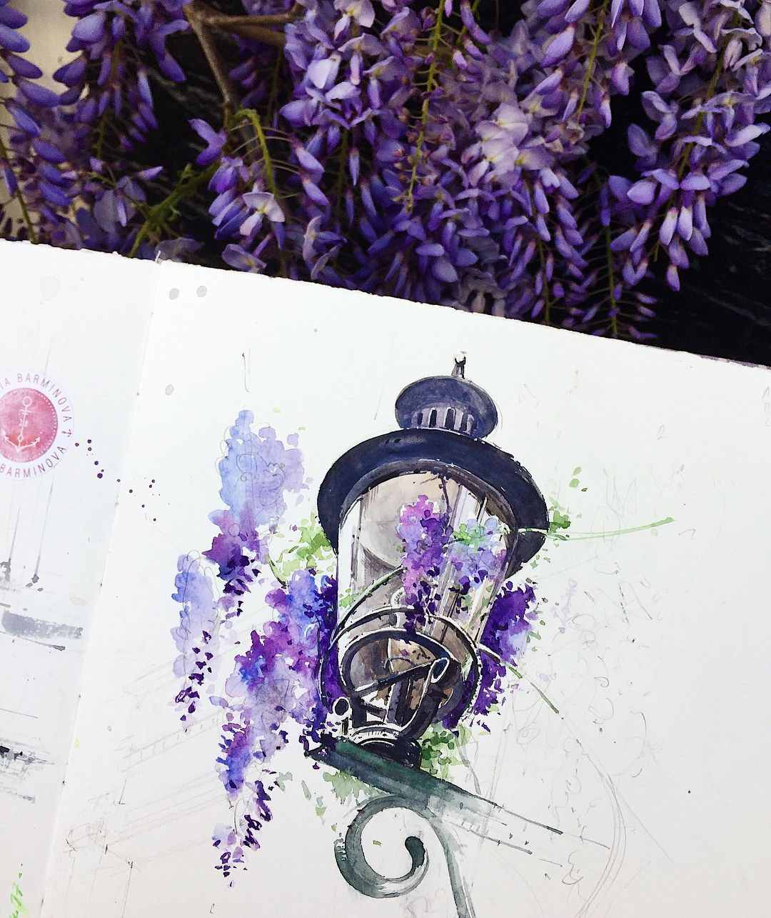 "8,042 Likes, 68 Comments - Julia Barminova WATERCOLOR (@juliabarminova) on Instagram: ""I dream of a new trip to Holland this spring! #lanterninwatercolorsketchbook_jb Привет! Ну что,…"""