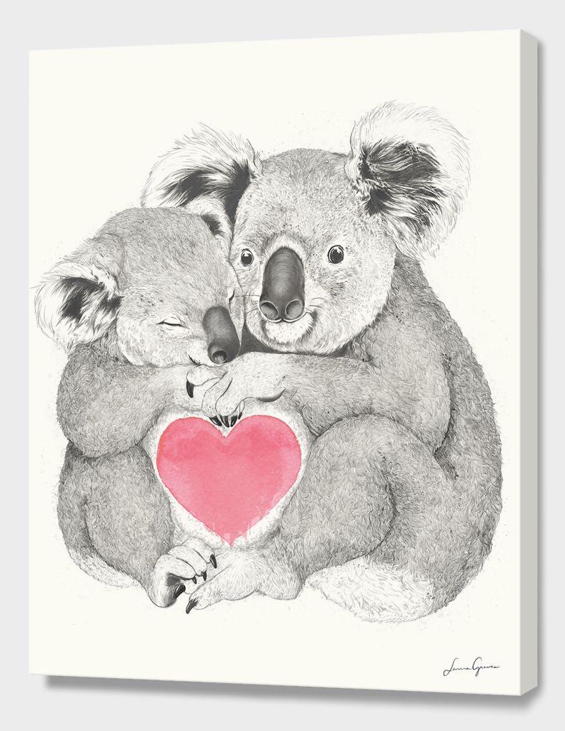 Koalas Love Hugs Canvas Print By Laura Graves In 2018 Koalas