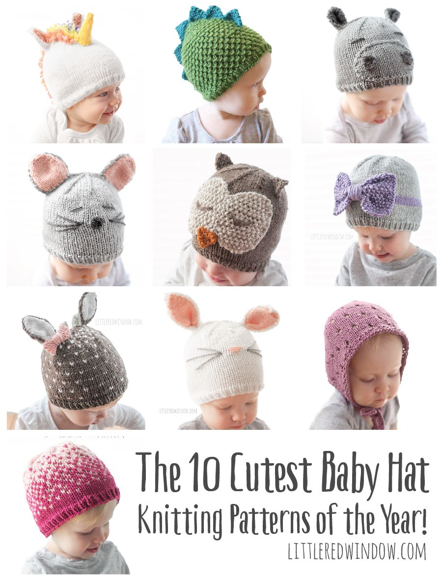 10 Cutest Baby Hat Knitting Patterns of the Year | Pinterest ...