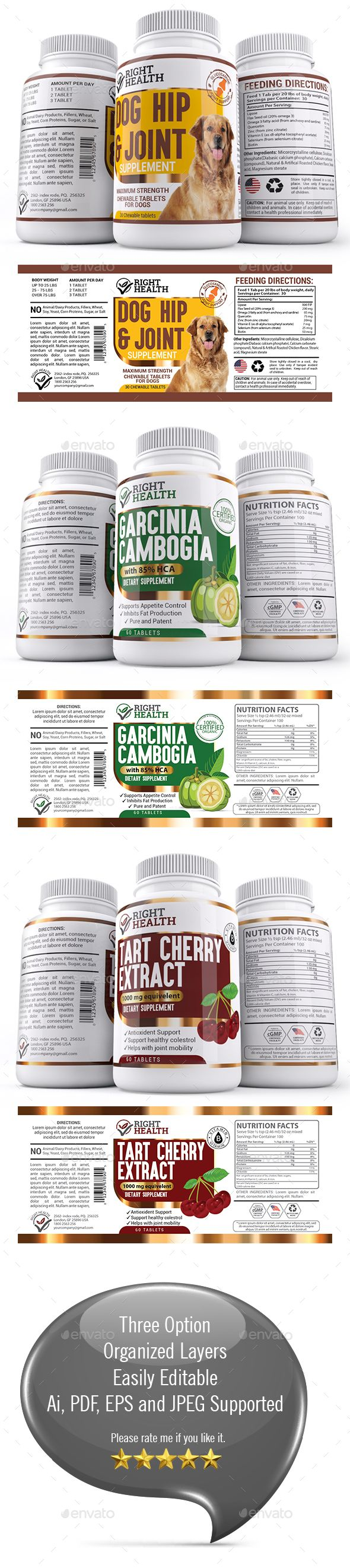 supplement label template vector eps ai illustrator