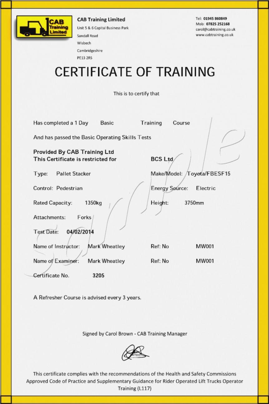 Get Our Printable Forklift Certification Certificate Template Certificate Templates Training Certificate Good Essay