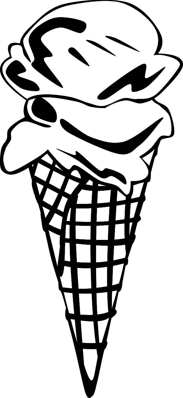 Ice Cream Cone 2 Scoop Coloring Page Bulk Color Ice Cream Cone Coloring Pages Turtle Coloring Pages