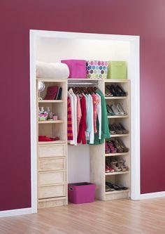 Dise os de closets peque os proyectos que intentar for Closet para espacios pequenos