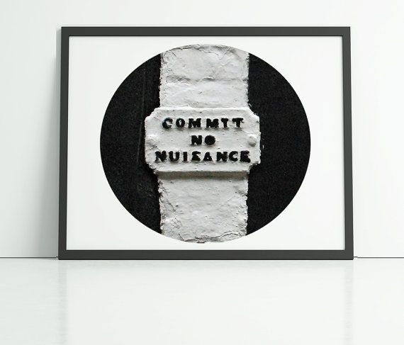 Funny photography print commit no nuisance art by PrintsOfHeart, £5.00