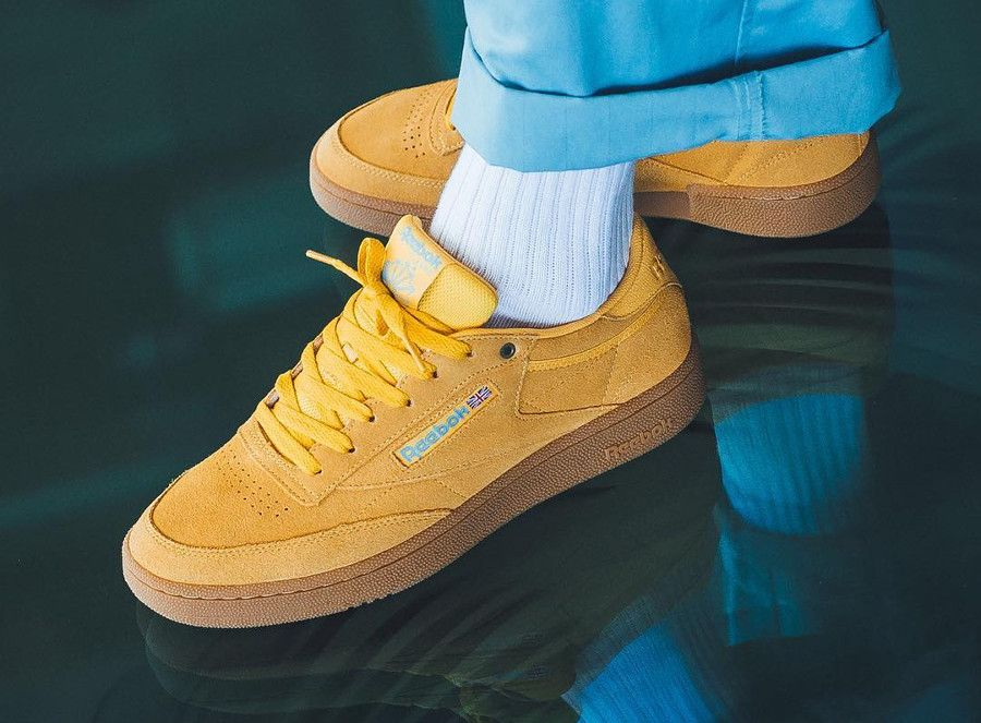 new photos fashion styles new style Reebok Club C 85 'Banana Blue Gum' #sneakers #baskets in ...
