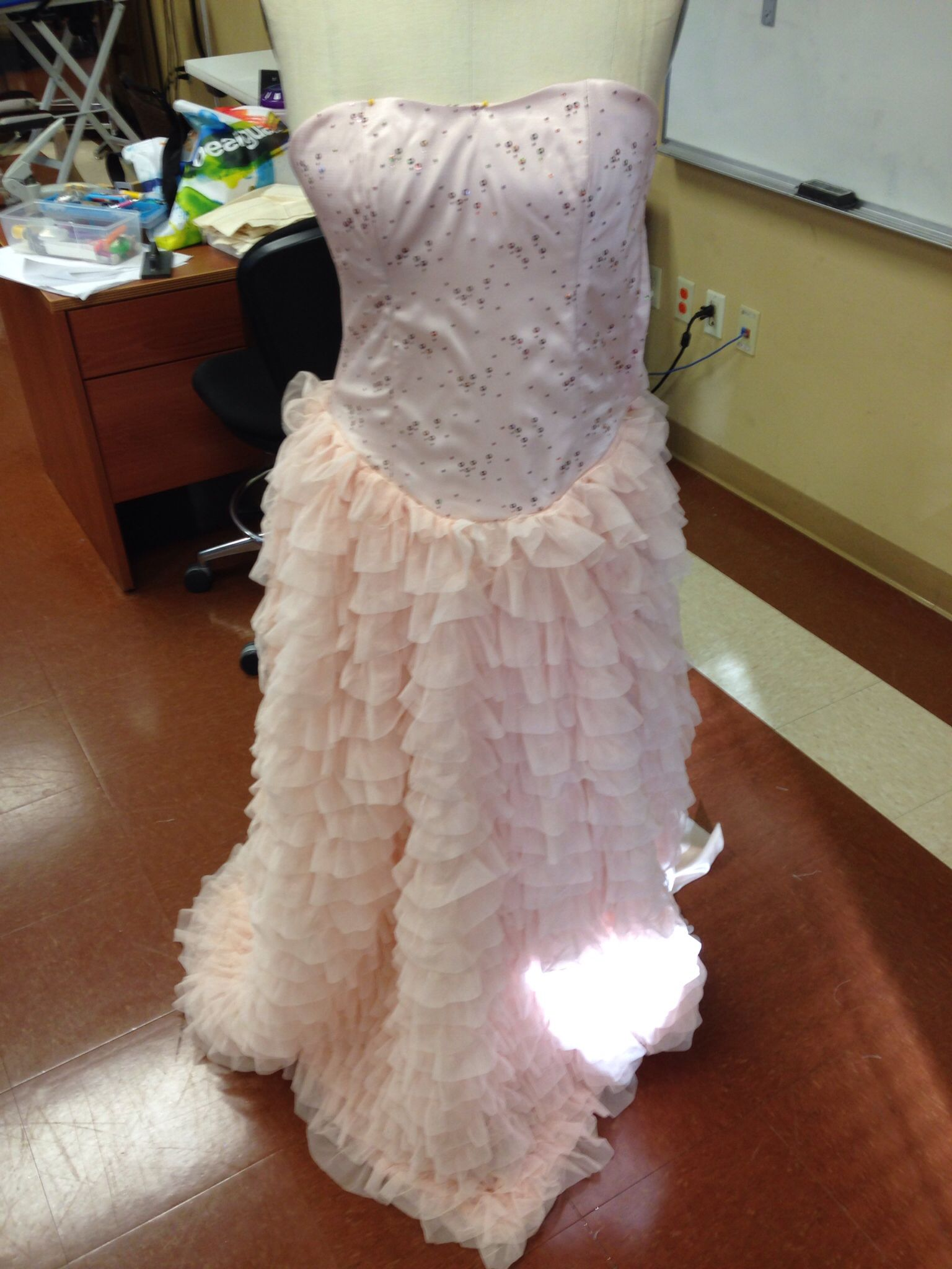 Prom gown that i created for a young lady still needs finishing