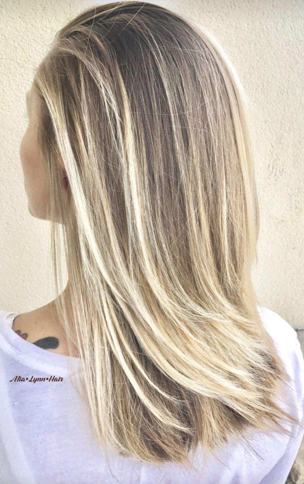 Blonde Blonde Hair Balayage Highlights Balayage Highlights