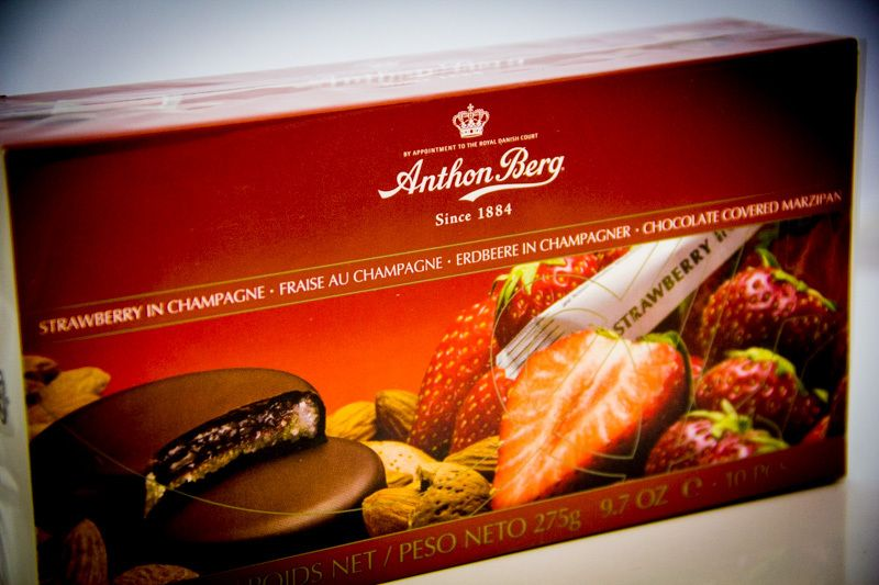Anthon Berg Strawberry In Chamapagne Chocolate Covered