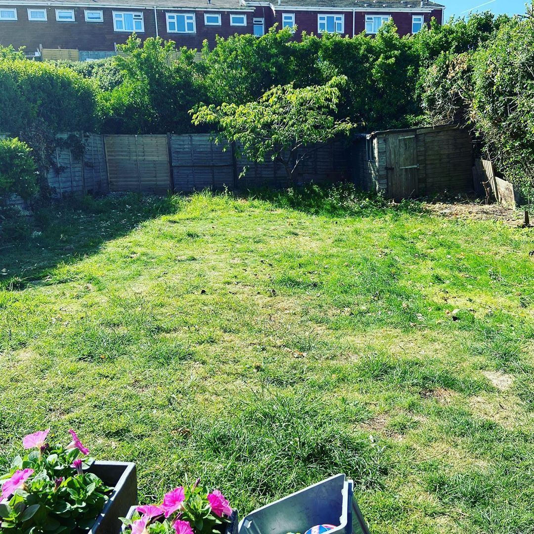 First time the garden has been clear of branches, twigs and leaves from our various hack n slash activities since March. Perhaps there is space for that massive 4m diameter pool our friends bought us as a lockdown moving in present!! #newhome #gardening #garden #oldhouse #sussex #saltdean