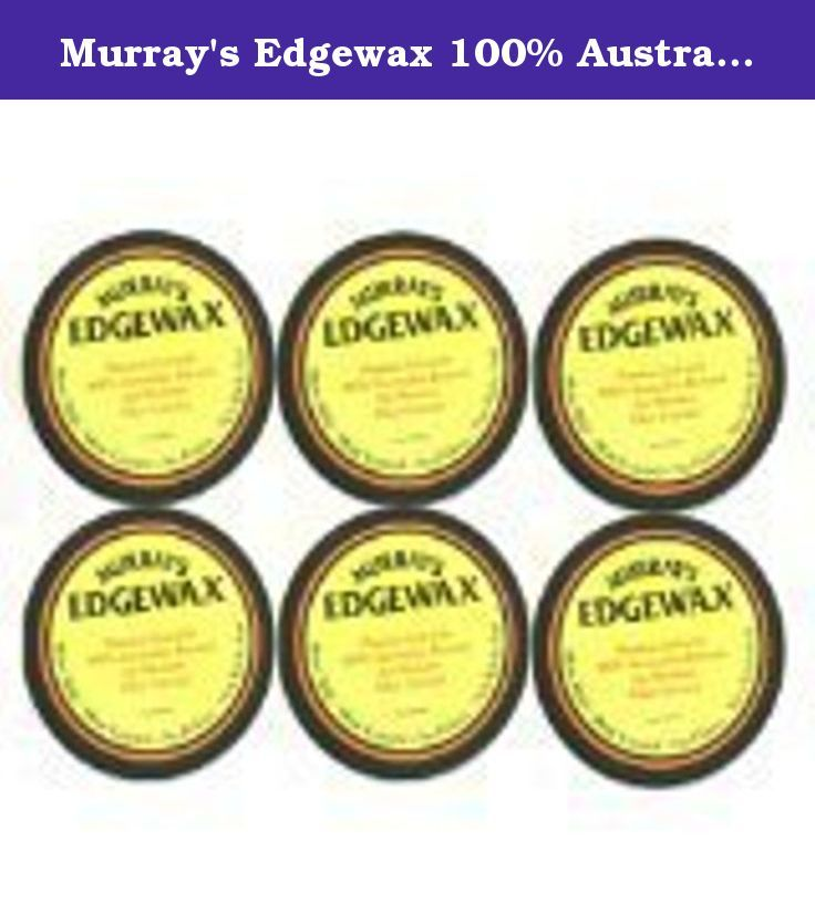 Murray's Edgewax 100% Australian Beeswax (Pack of 6). Murray's Edgewax combines a primium gel with the holding, power of Australian Beeswax providing, ahigh shine, maximum hold, with no flaking. this products is strong, enough for the most demanding,areas,yet soft enough for easy application.