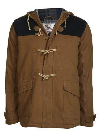Contrast Padded Duffle Coat