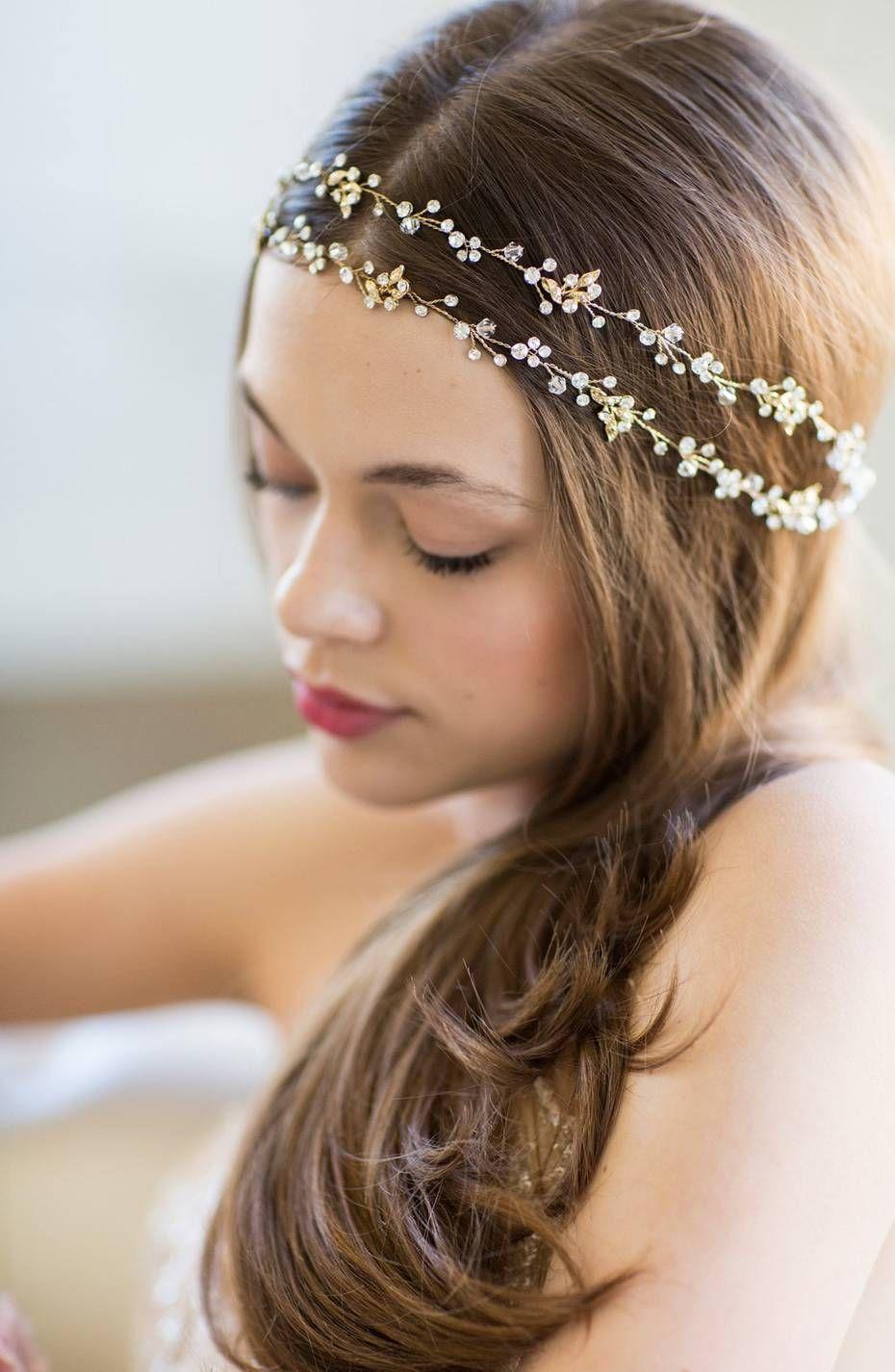 20 beautiful bridal headbands to create your princess-worthy