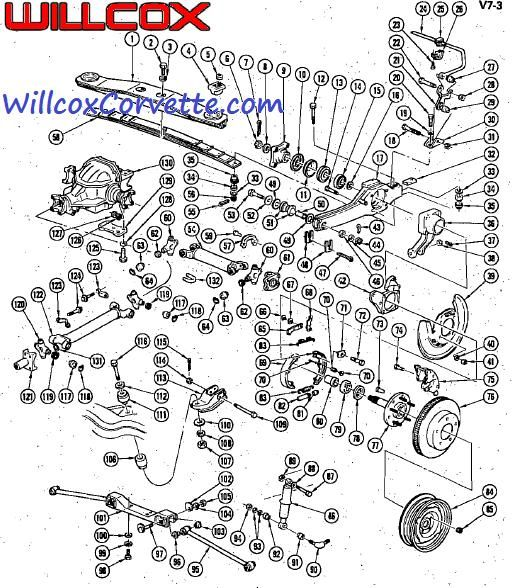 1963-1979-corvette-rear-suspension-exploded-view | chevy corvette, corvette  grand sport, corvette c3  pinterest
