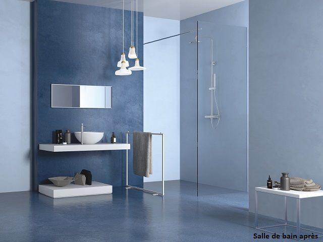 Rénover la salle de bain  un nouveau sol sans enlever le carrelage