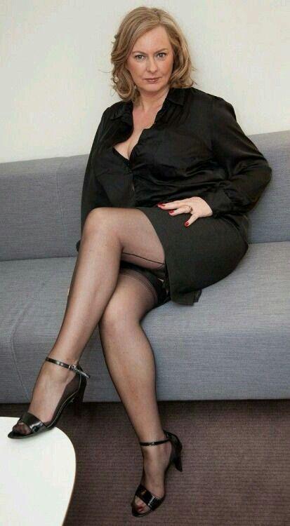Reife Frau Beine