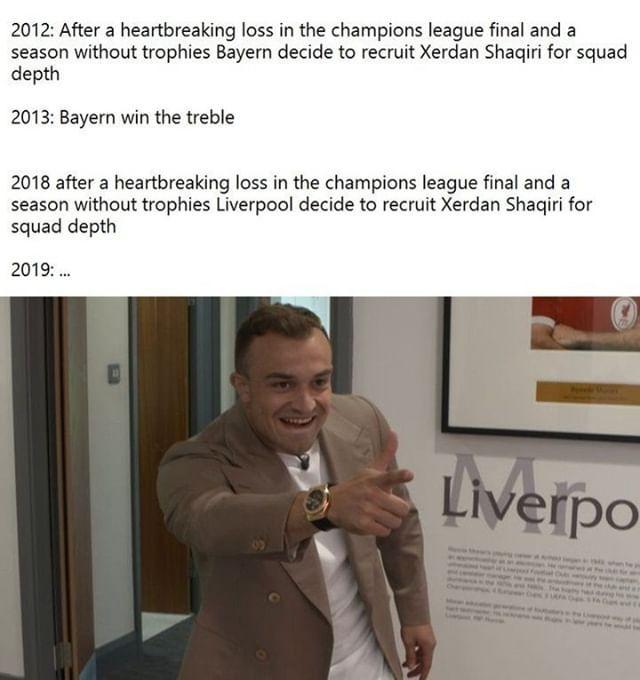 Xherdan Shaqiri Football Memes Champions League Final Football