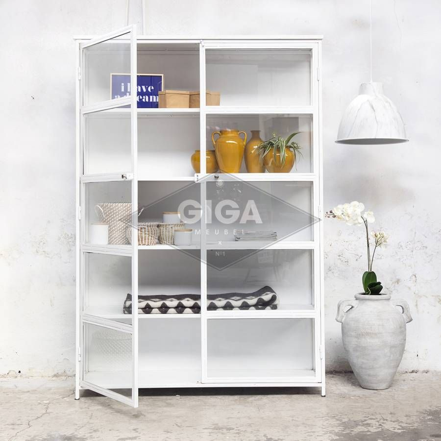 Giga Meubel Industriele Kast.Vitrinekast Industrieel Lisa Wit Shelves In 2019 Meubels