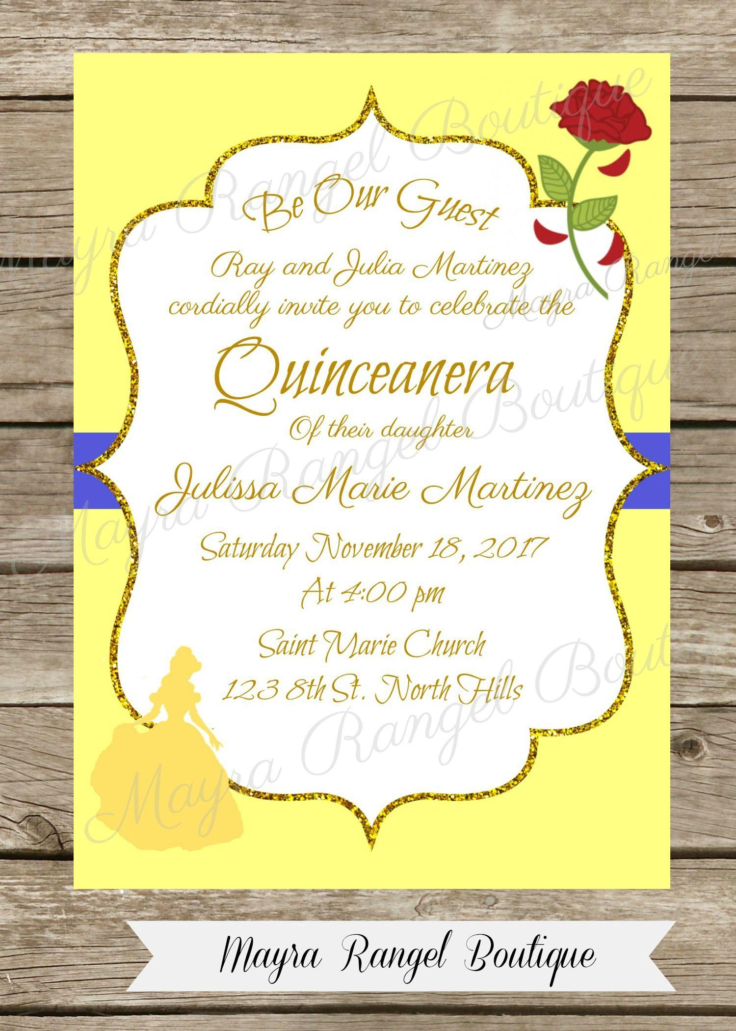 1 50 This Beautiful Invitation Beautyandthebeast Invitations