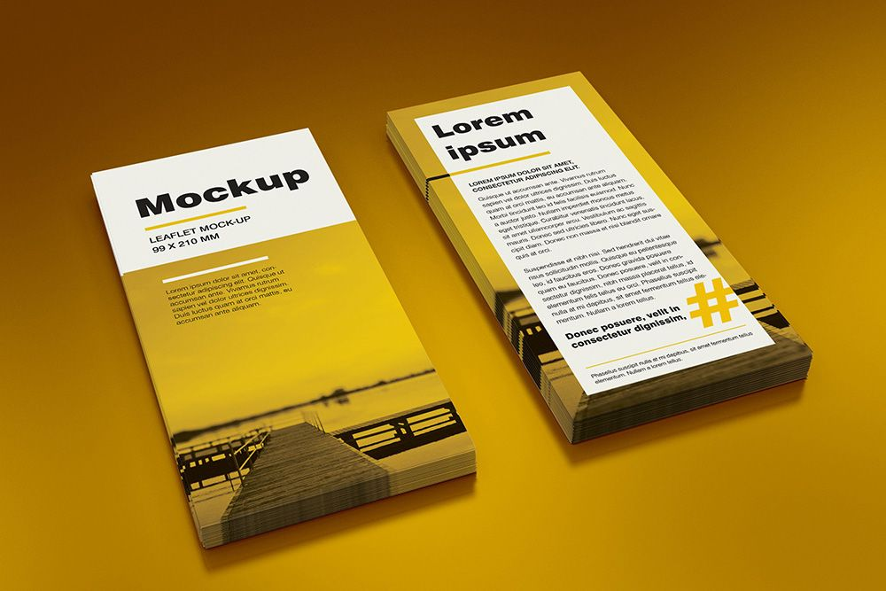 Free Double Square Leaflet Mockup On Behance  Alternatives To Tri