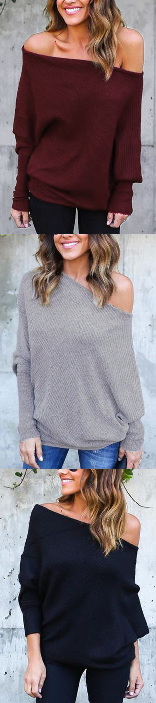 Lightweight, Off-Shoulder, Long Sleeves - i need all of these all ...