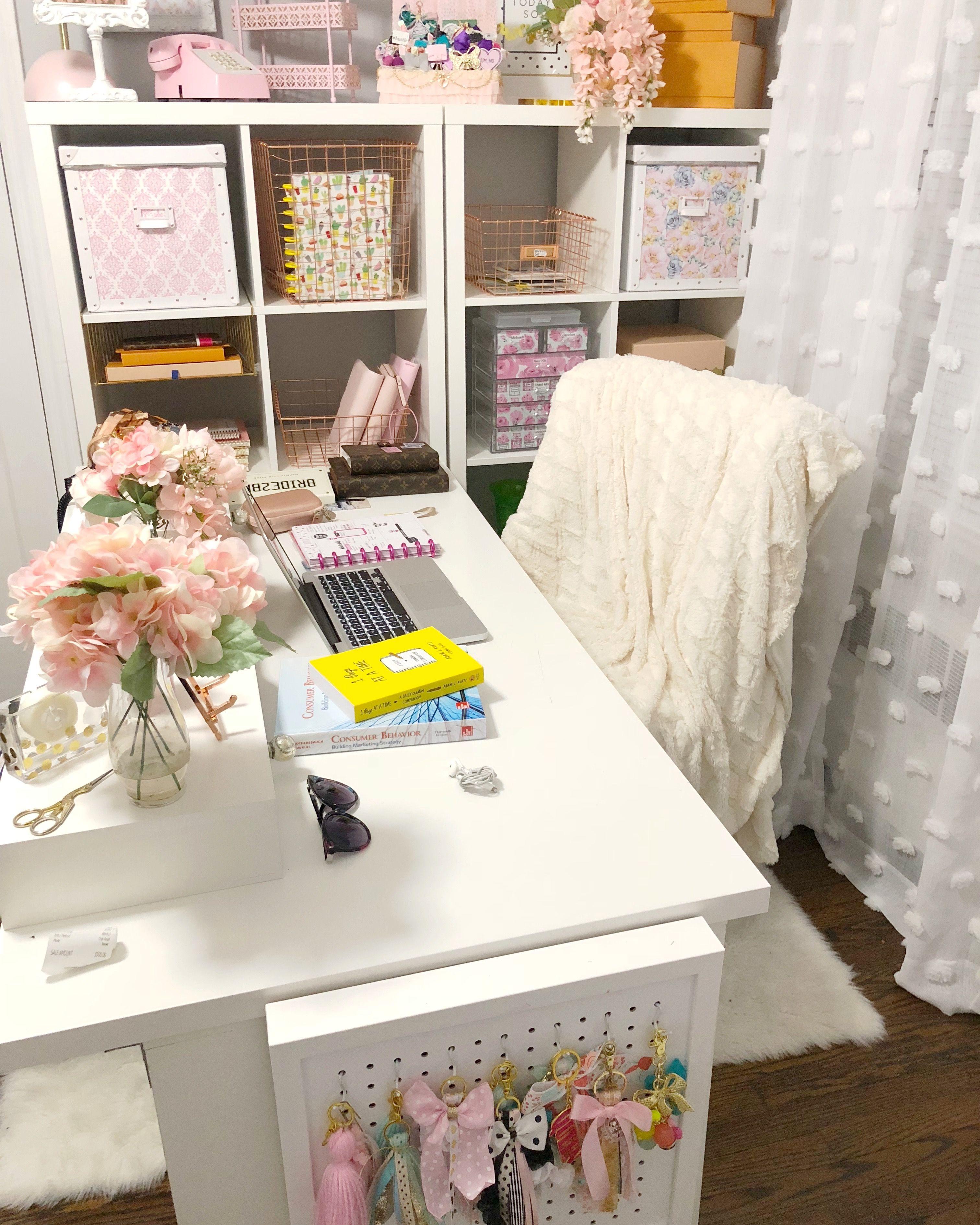 IKEA Desk. Home Office Decor. Desk Decoration